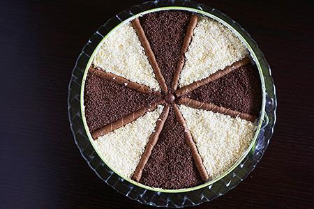 ανεμόμυλος τούρτα σοκολατένια & δίχρωμη