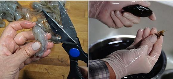 πώς καθαρίζουμε μύδια & γαρίδες