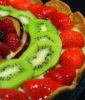 τάρτα φρούτων με κρέμα