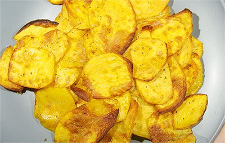 πατάτες τραγανές χωρίς τηγάνι